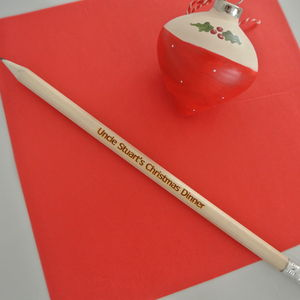 Personalised Pencil Place Settings - unusual favours
