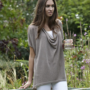 Reversible Cowl Neck Top - women's fashion