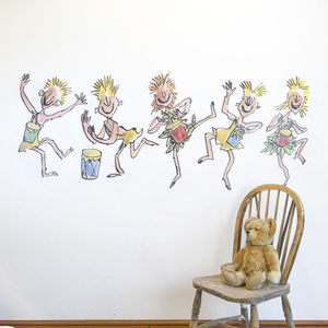 Oompa Loompa Music Roald Dahl Wall Sticker