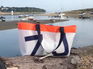 Personalised Sailcloth Beach Bag/Shopping Bag - holdalls & weekend bags
