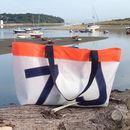 Personalised Sailcloth Beach Bag/Shopping Bag