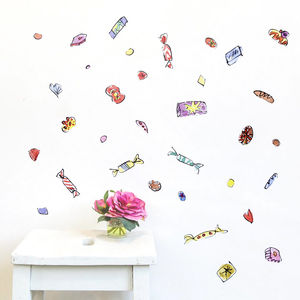 Roald Dahl Sweets Wall Sticker Set - home accessories