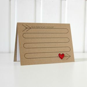 'Way To My Heart' Love Card - styling your day