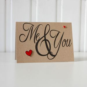 'Me And You' Love Card - styling your day