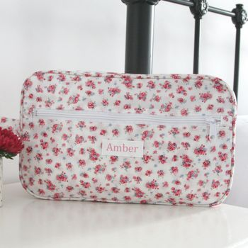 Personalised Oilcloth Wash Bag