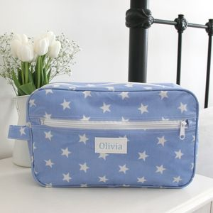 Blue Star Personalised Wash Bag
