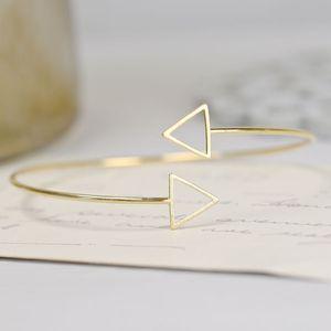 Gold Triangle Bangle - women's jewellery