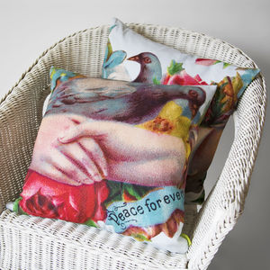 Peace Forever Calling Card Cushion - patterned cushions