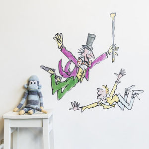Willy And Charlie Roald Dahl/Quentin Blake Wall Sticker - wall stickers