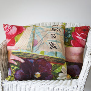 My Love To You Nautical Cushion - living room