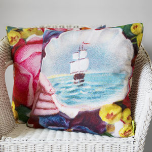 Sail Away Nautical Cushion - living room