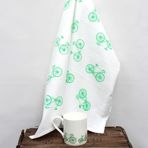 Bike Tea Towel - kitchen linen