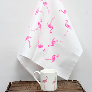 Flamingo Tea Towel - kitchen linen