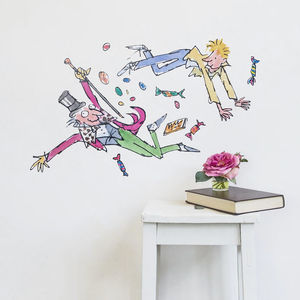 Charlie, Willy And The Sweets Roald Dahl Wall Sticker - wall stickers