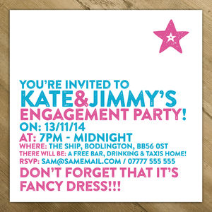 Birthday / Engagement / Christening Party Invites - engagement cards