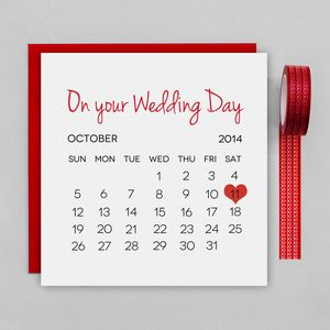 Personalised Wedding Day Card - wedding, engagement & anniversary cards