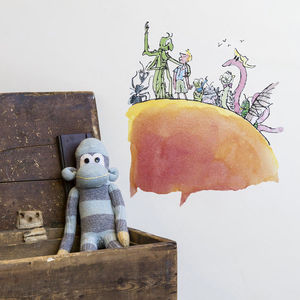 'James And The Giant Peach' Roald Dahl Wall Sticker - wall stickers