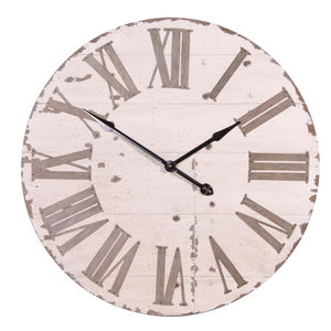 Large Wall Clock In Cream - clocks