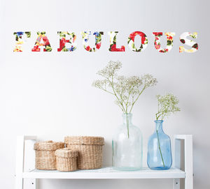 Fabulous Floral Wall Sticker