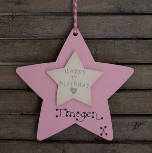 Personalised 1st Birthday Wooden Keepsake Sign - children's room