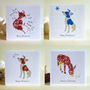 Pack Of Four Animal Christmas Cards