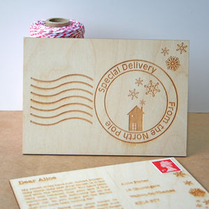 Wooden Personalised Santa Letter - cards & wrap