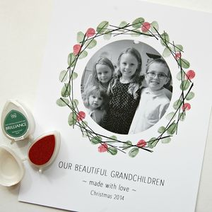 Personalised Photo And Fingerprint Wreath - home accessories