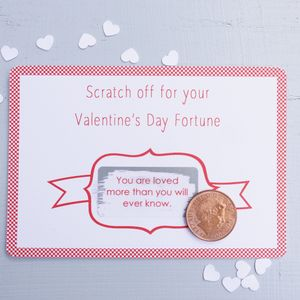 Valentine's Day Fortune Scratchcard - wedding, engagement & anniversary cards