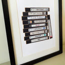 Personalised Favourite Film Movie Tv Vhs Video Print