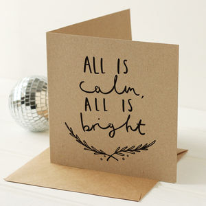 All Is Bright Christmas Card - cards & wrap