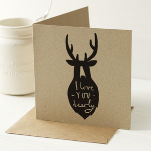 Love You Deerly Card - shop by category