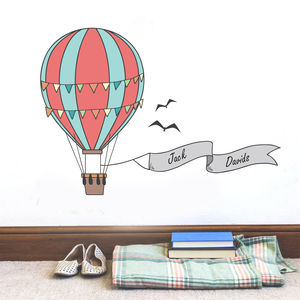 Personalised Hot Air Balloon Sticker - wall stickers