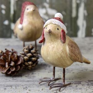 Christmas Woolly Hat Bird Ornament - tree decorations