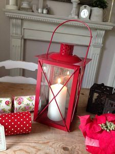 Christmas Red Lantern - styling your day