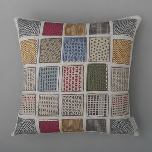 Retro Checks Cushion Cover