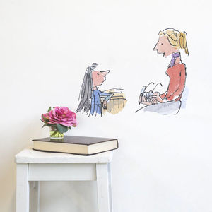 Miss Honey And Matilda Quentin Blake Wall Sticker - wall stickers