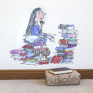 Matilda Quentin Blake / Roald Dahl Wall Sticker - wall stickers