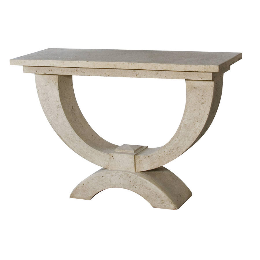 Stone Console Table By Out There Interiors