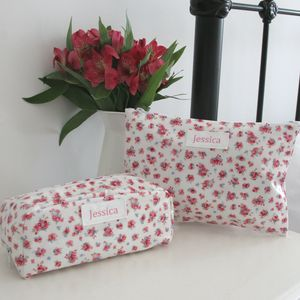 Personalised Washbag And Cosmetic Bag