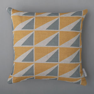 Triangle Squares Cushion Cover