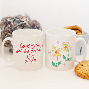 Your Drawing Or Handwritten Message On A Mug