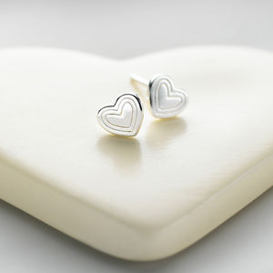 Sterling Silver Heart Earrings - earrings