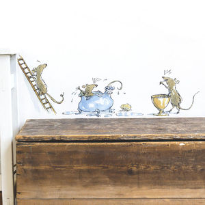 Adorable Mice Roald Dahl Wall Sticker - home accessories