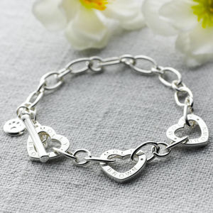 Childs Adjustable Silver Charm Bracelet