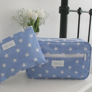Personalised Wash Bag And Cosmetic Bag Gift Set