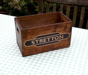 Personalised Vintage Railway Station Crate