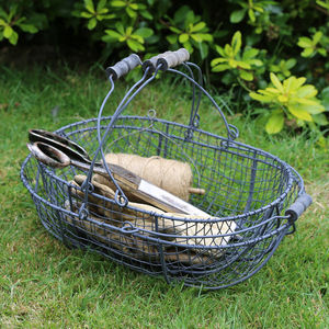 Iron Trugs With Wooden Handle - garden