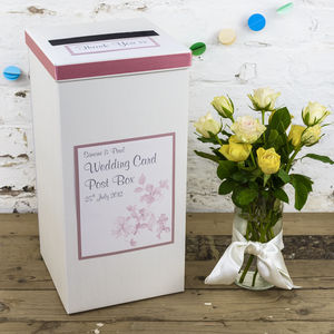 Personalised Sienna Wedding Post Box - room decorations