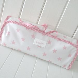 Personalised Oilcloth Changing Mat - baby changing
