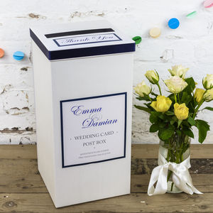 Personalised Kensington Wedding Post Box - room decorations